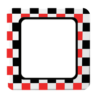 Red White and Black Squares Frame by mysticmorning