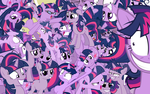 Twilight Sparkle Collage Wallpaper by brightrai