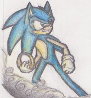 Sonic by winded-wolf
