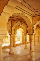 Amber Fort interior 1, Jaipur by wildplaces
