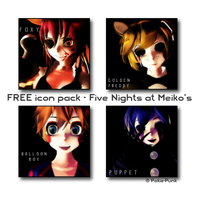 FREE icon pack 2 - Five Nights at Meiko's by Pokie-Punk