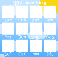 2011 Summary of art -BLANK- by Caramelcat123