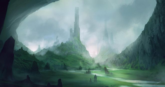 Misty Lands by JJcanvas