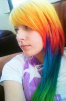 rainbow hurr close-up by lane-nee-chan