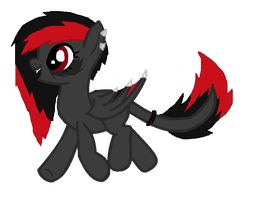 Custom Daemon Pony for - Fluffomaru by iPandacakes