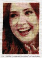 Karen Gillan (Amy Pond) - Doctor Who Cross Stitch by lailarshid