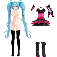 TDA out of the gravity miku update WIP 2 by Sushi-Kittie