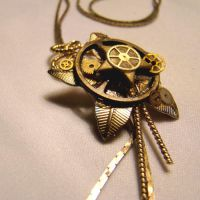 GREAT GATSBY Gears Necklace by SteamSociety