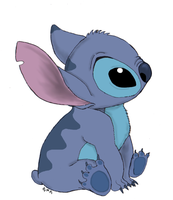 stitch sitting.. by Raptor85