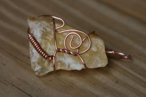 Calcite copper wrap by LilithsSmile