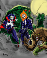 Legion of Monsters by justbuzz by Gwhitmore