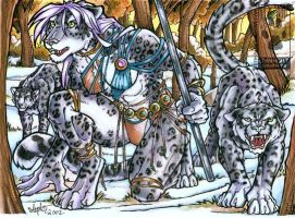 Lady of the Snow Leopards by lady-cybercat