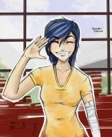 All Smiles! - Kanbaru Suruga Colored by DragonZ911