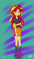 Sunset Shimmer the Bacon girl by jetfree730
