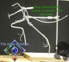 King Justin wire armature rough set up by Gneiss-chert