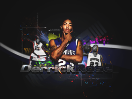 Derrick Rose wall.. by Diztrickt
