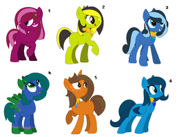 ~Birthstone Ponies Adopts 2/2~ CLOSED by IIbukiMioda