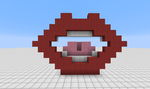 Mouth in Minecraft by 8bloodpetals