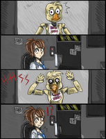 Stare Down with Chica by Derpsonhooves