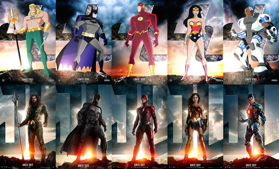UNITE 2001 - Justice League Collage by JTSEntertainment