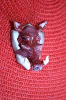 Warthog Fridge Magnet 2 by souffle-etc