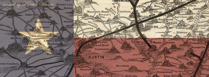 Texas Flag Map Facebook Cover by CrystalKittyCat
