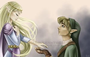 Link and Zelda - Bye .. for now by Warnstrom
