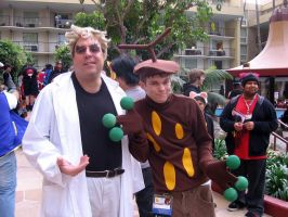 Sudowoodo and evil Prof. Oak by WeaponsGradePenguin