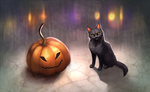 Halloween by Happy--Cat