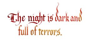 George RR Martin - The Night is Dark by MShades