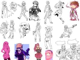 Sketch Dump July - September 2015 by cocosnowlo