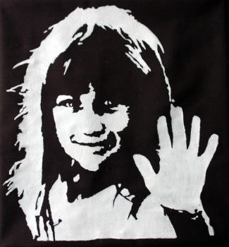 Stencil - Childhood Pillow by color-me-red