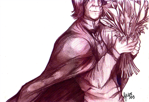 Snape and Lillies by ayubee