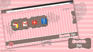 Theme Sweet Pink Google Chrome by CrazyEditiions