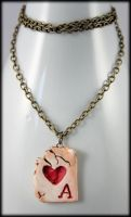 The Cards have Fallen Necklace by NeverlandJewelry