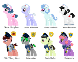 Nurses And Police Ponies by Reitanna-Seishin