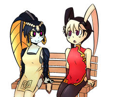 Feng and Minette by Critnuke