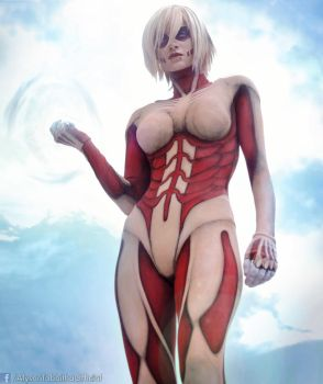 Female Titan Cosplay by AlysonTabbitha