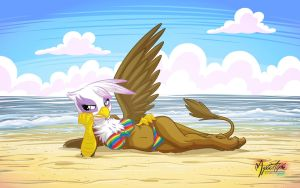 Gilda on the Beach by mysticalpha