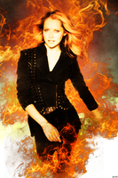 Teresa Palmer is on Fire by dyn by SpaceDynArtwork