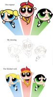 PPG original and my work by Mangamaster247