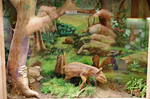 Prehistoric environment with a tapir by Lynus-the-Porcupine