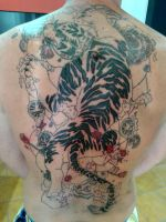 oriental tiger tattoo in the works by flaviudraghis