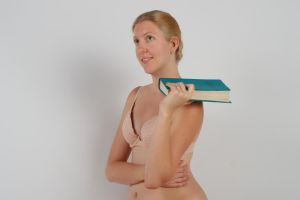Body Reference - Portrait - Book on Shoulder by Danika-Stock