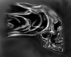 Flaming Skull by aod215
