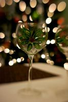 Christmas Wine Glasses IV by LDFranklin