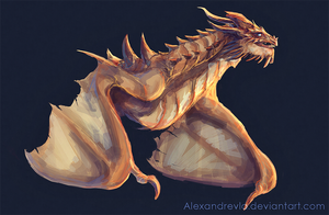 |Paarthurnax Sketch by Alexandrevla