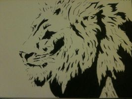 Lion Stencil by STJIMMYRIP