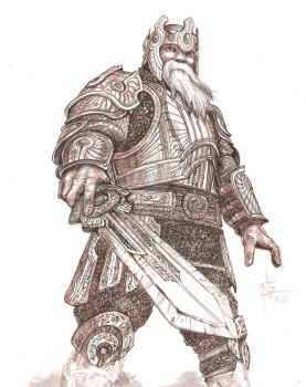 Concept Art: Dwarven King by atongwali