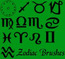 Zodiac Brushes by missedyn